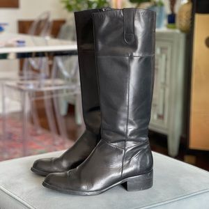 Tall Black Leather DUO Boots